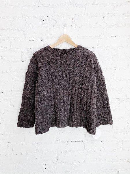 Handspun Hope Domina Cable Sweater - Rich Eucalyptus Cotton