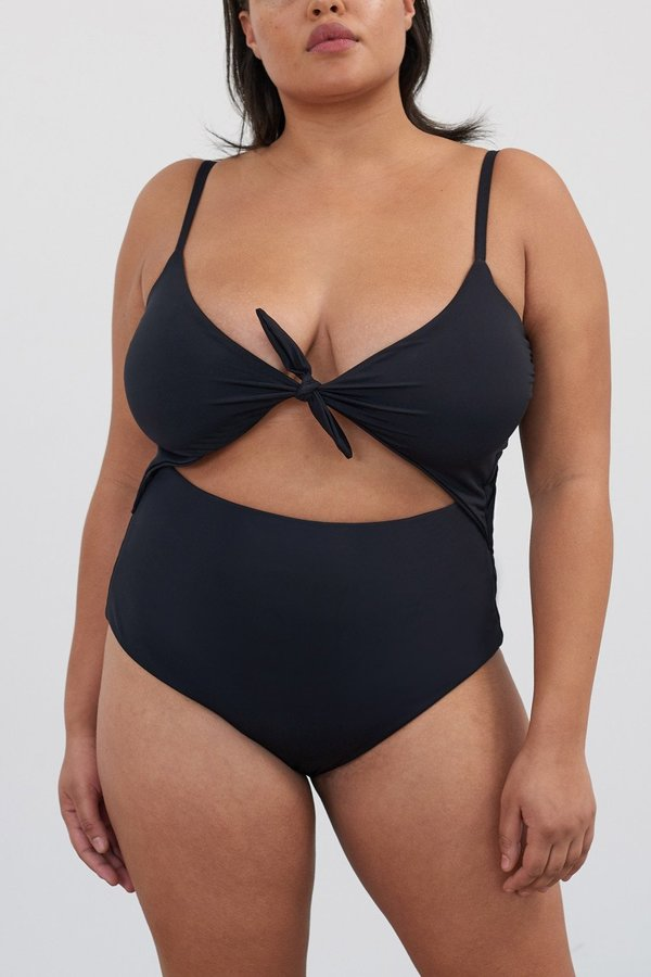 Mara Hoffman Kia One Piece Swimsuit - Black