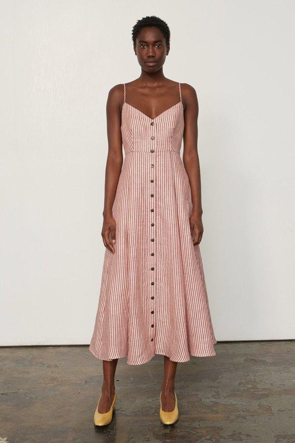 Mara Hoffman Morgan Dress - Rust Stripe