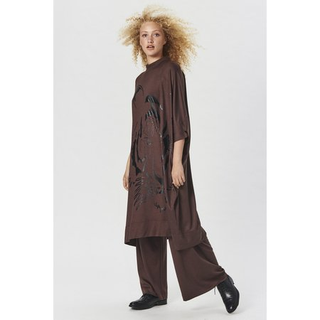 Bitte Kai Rand Osaka Wool Jersey Long Dress - Brown