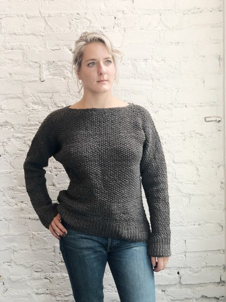 Handspun Cotton Hope Sonia Sweater - Rich Eucalyptus