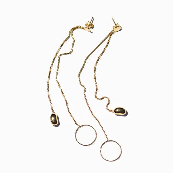 MING YU WANG Swing Earrings - 18k Gold Plated