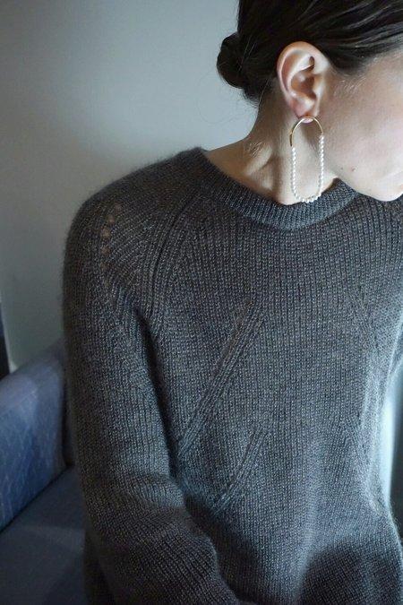 Faris Filo Hoop Earrings - Bronze