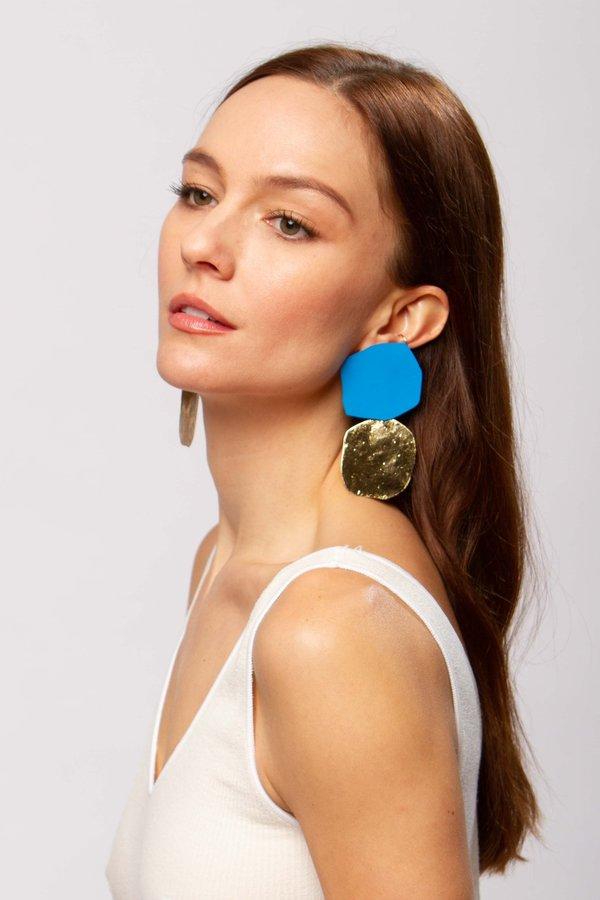 JULIE THÉVENOT Acantha earrings - sea