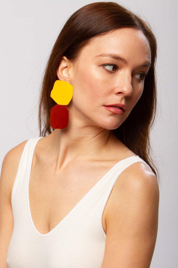 JULIE THÉVENOT Acantha earrings - spice