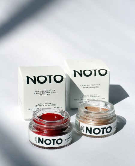 NOTO botanics Sets Color and Glow Oscillate + Hydra Highlighter Pots