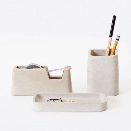 Areaware Concrete Desk Set - Gray