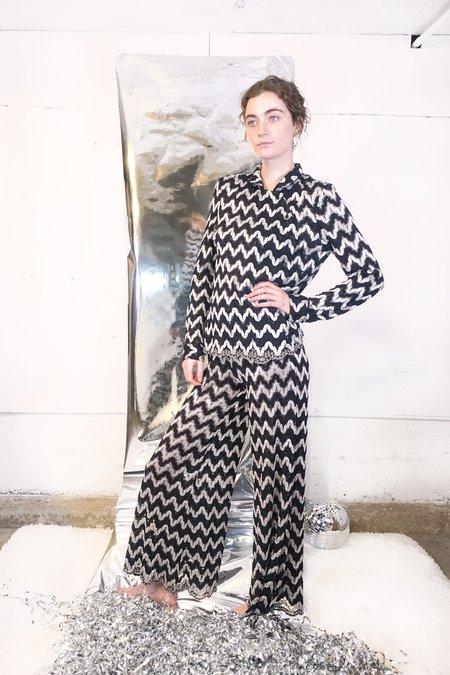 Rachel Comey Pienza Top - Black Lace Squiggle