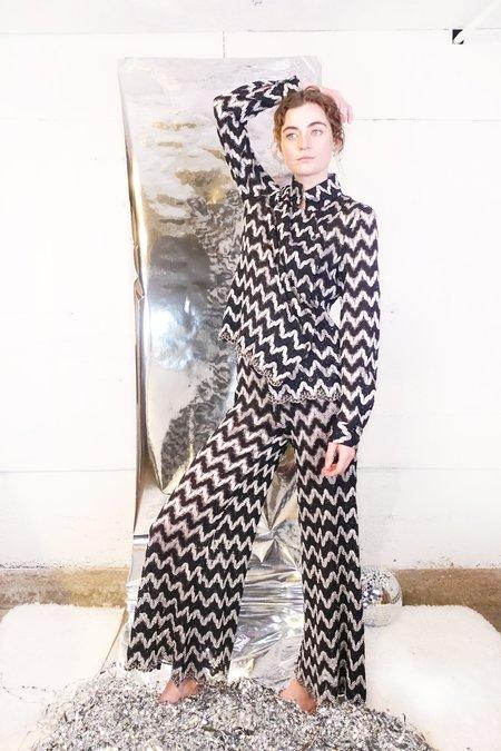 Rachel Comey Wharf Pant - Black Lace Squiggle