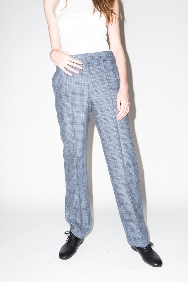 Kurt Lyle Nancy Trousers - Grey Plaid