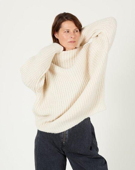 Lauren Manoogian Fisherwoman Mockneck - Raw White