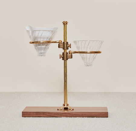 The Coffee Registry The Pour Over Coffee Stand - Brass