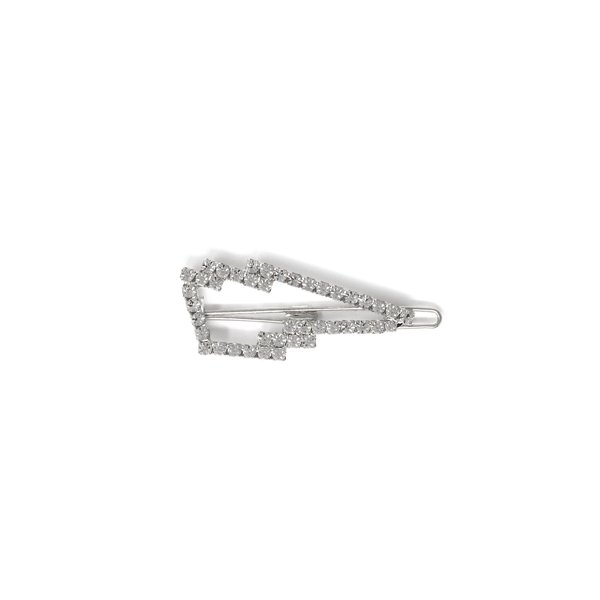 Joomi Lim Lightning Bolt Hair Clip - Rhodium/Crystal