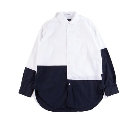 Engineered Garments Spread Collar Shirt - White 100s 2Ply