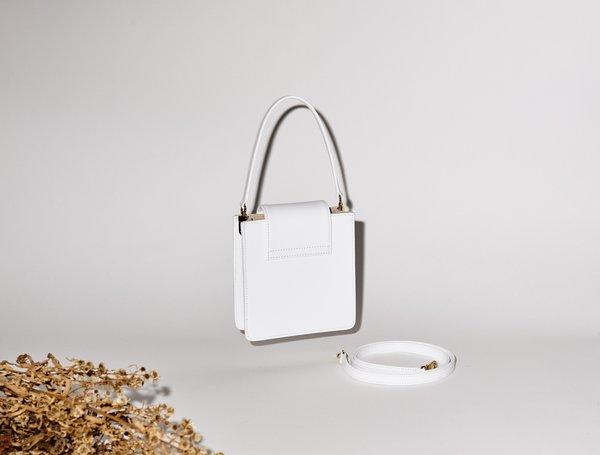 If I Fell Le Squarette Bag - White Wash