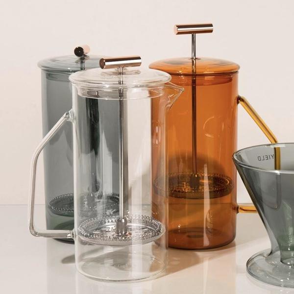 Yield 850 mL Glass French Press - Amber