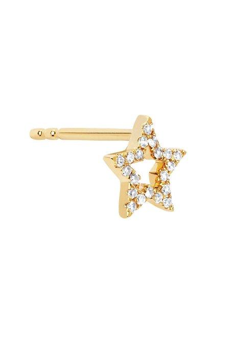 EF Collection Open Diamond Star Stud