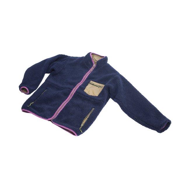 Sugar Cane Boa Fleece Reversible Jacket - Navy