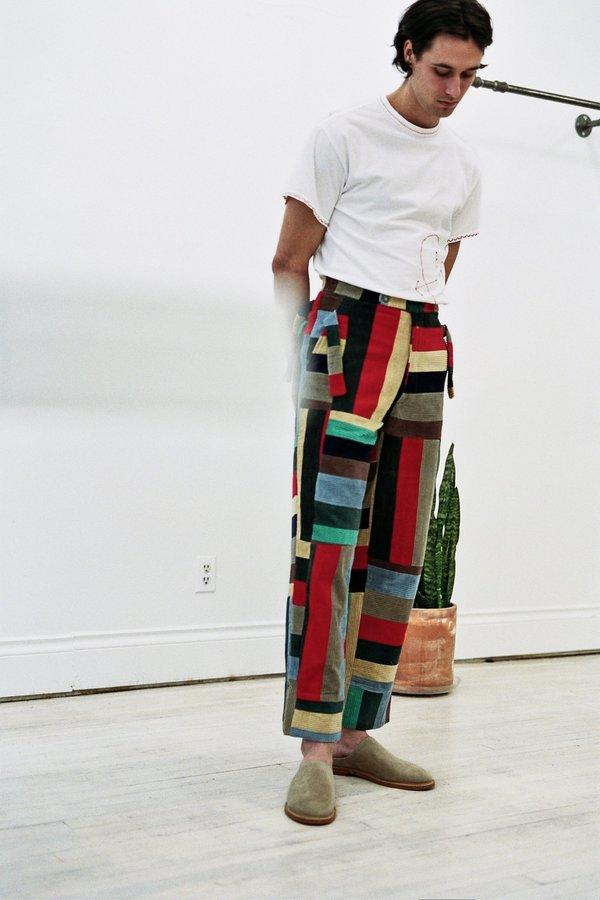 BODE Side-Tie Trouser - Corduroy Patchwork