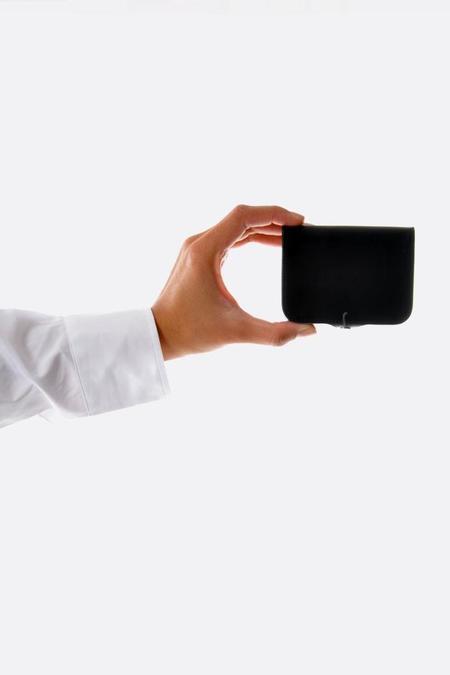 Steve Mono Card and Coin Purse - black