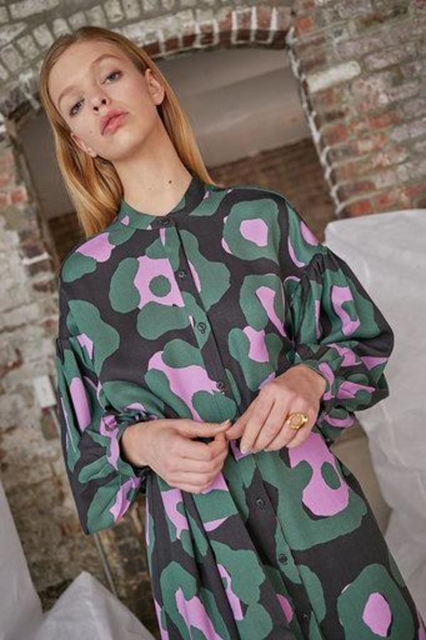 WHiT Etta Dress - Camo Jaguar