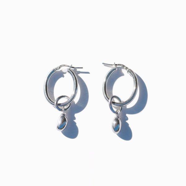MING YU WANG Bean Drop Earrings - silver