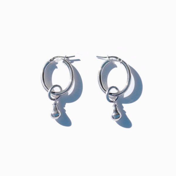 MING YU WANG Pear Drop Earrings - silver