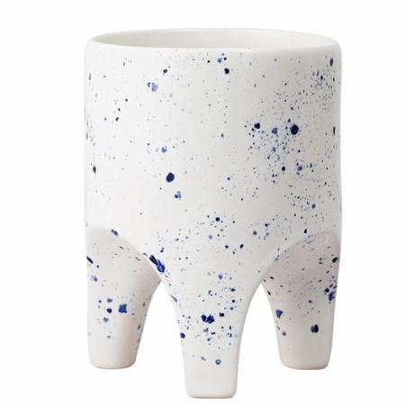 Angus & Celeste Arched Leg Planter - Blue Speckle
