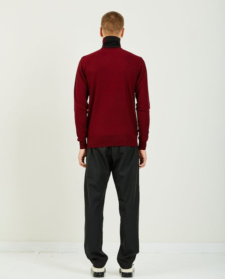 Band of Outsiders LIGHTWEIGHT TURTLE NECK JUMPER - burgundy