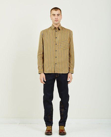Band of Outsiders Slanted Pocket Shirt - Camel