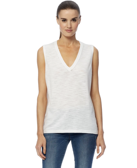360 Cashmere Kourtney Tank - White