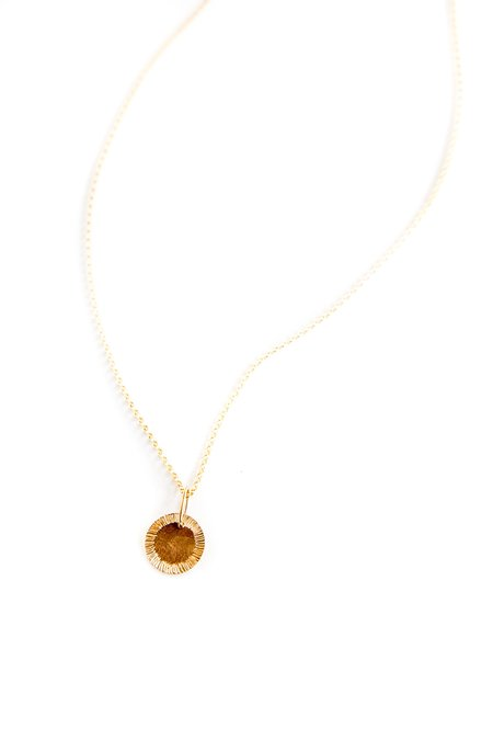 Brooke HIll Sun Rays Pendant Necklace - Gold Fill