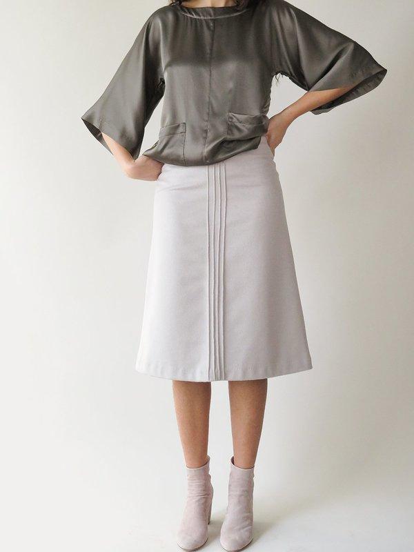 erica tanov emile skirt - stone