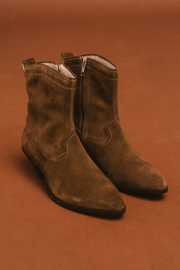 Vagabond emily suede boots - taupe
