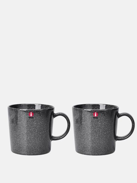 iittala Teema Mug 10oz Set Of 2 - Dotted Grey