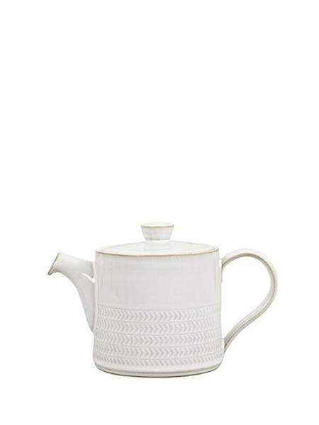 Denby Natural Canvas Textured Teapot - white