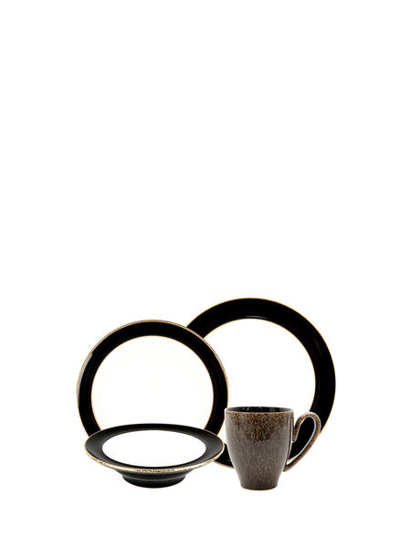 Denby Praline Noir 4 Pc Set