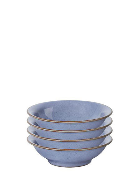 Denby Heritage Fountain Set 4 Small Shallow Bowls