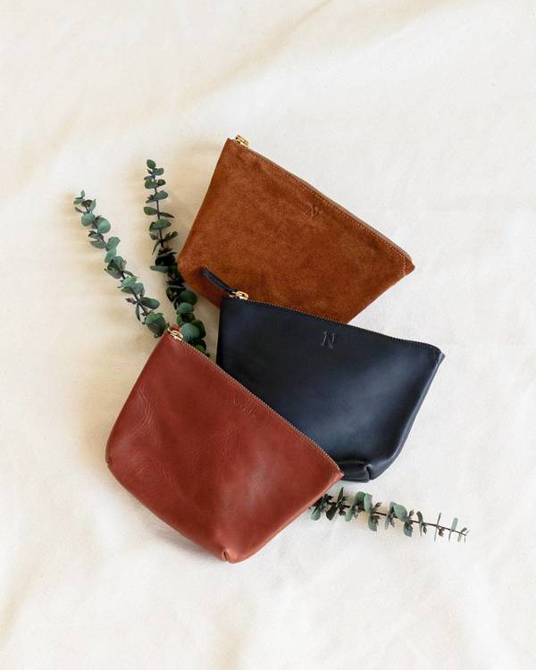 Nisolo Rosa Pouch - Nutmeg