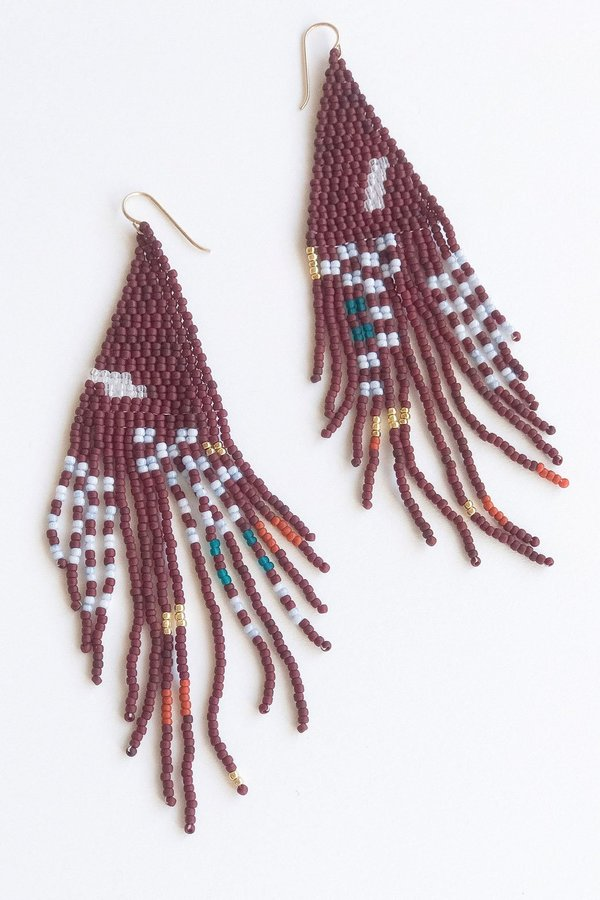 Alice Rise Oxblood Earrings