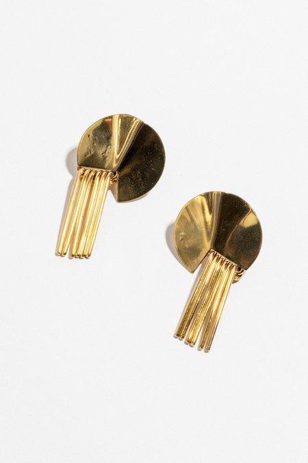 Slantt Julian Earrings - Brass