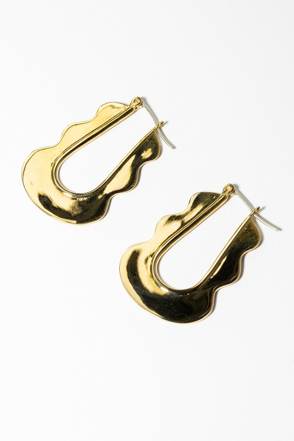 Artifacts Mini Mirage Hoops - Brass