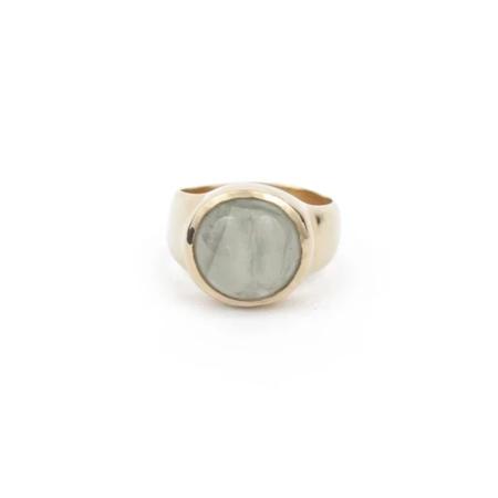 Seaworthy Rise Aquamarine Ring - Brass