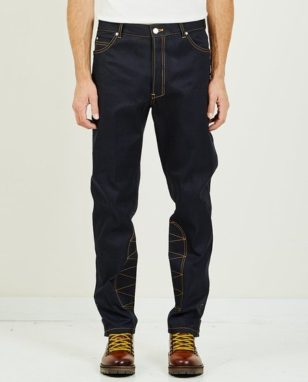 Band of Outsiders TAPERED DENIM WITH STRAPS - INDIGO