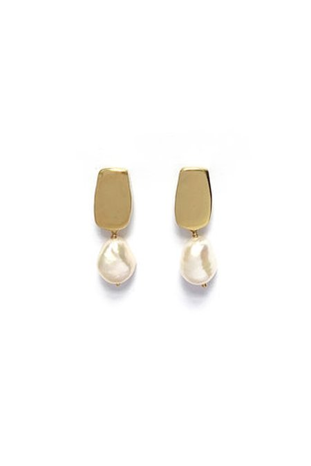 Goldeluxe Jewelry Siren Stud Earrings with Baroque Pearls