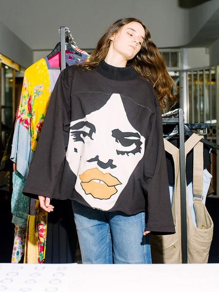 Unisex Francesca Longo Face Sweatshirt No. 4 - Multi