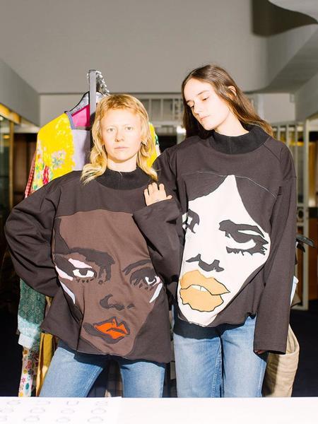 Unisex Francesca Longo Face Sweatshirt No. 5 - Multi