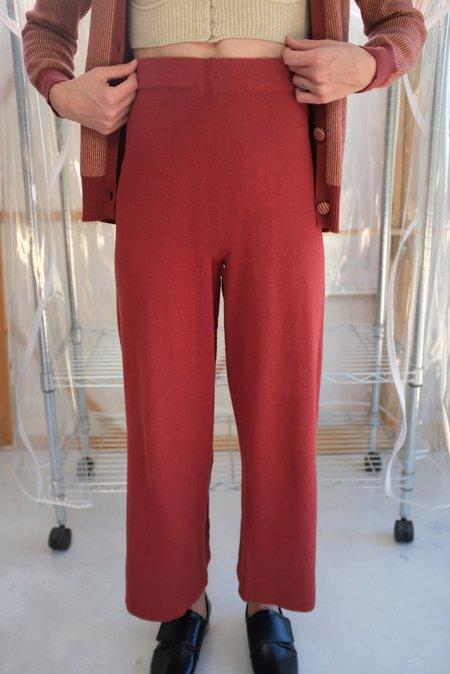 Beklina Culotte Knit Trouser - Tomato