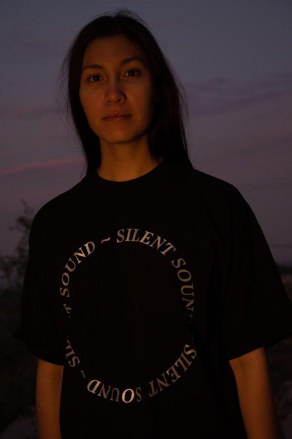 Silent Sound Reflective Circle Logo T-Shirt