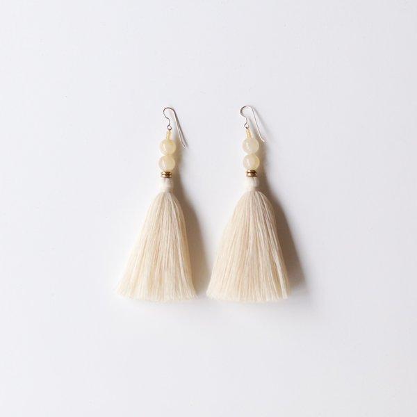 Ora-C Lina Earrings - Cream